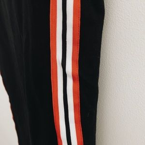Leggings with a Red Stripe